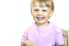 Der lachende Junge Stockbilder