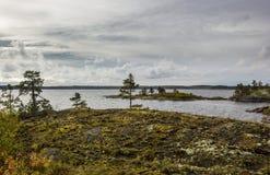 Der Ladogasee-Skerries Karelien Russland stockfoto