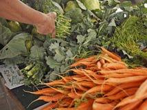 Der Landwirt-Markt Stockbild