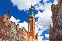 Der lange Weg der alten Stadt in Gdansk, Polen Stockbilder