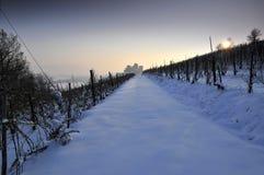 Der lange Weg zum Schloss Lizenzfreies Stockfoto