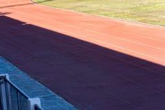 Der Laufweg im Stadion stockfotografie