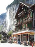 Der lauterbrunnen Wasserfall in der Schweiz Lizenzfreies Stockfoto