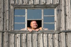 Der lächelnde Mann Stockfotografie