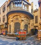 Der Lebensmittelwarenkorb bei altem Sabil, Kairo, Ägypten stockfotografie