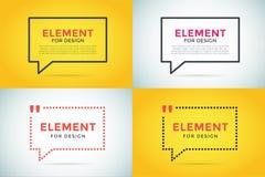 Der leeren leeres Design Schablonen-Blase des Zitats Lizenzfreie Stockbilder