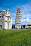 Der lehnende Kontrollturm in Pisa, Italien Stockfoto