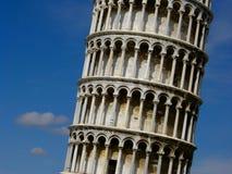 Der lehnende Kontrollturm von Pisa Stockbild