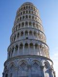 Der lehnende Kontrollturm von Pisa Stockfotografie