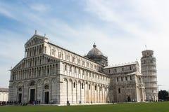 Der lehnende Kontrollturm von Pisa Lizenzfreie Stockfotos
