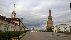 Der lehnende Turm in Kasan Stockbild