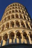 Der lehnende Turm von Pisa/von Turm von Pisa Stockfotos