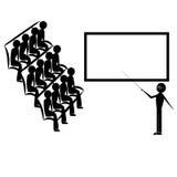 Der Lehrer gibt den Studenten die Lektion Stockfoto