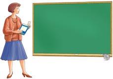 Der Lehrer hält das Buch an Lizenzfreie Stockfotos