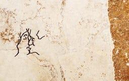 Der leidenschaftliche Kuss der Wand Lizenzfreie Stockbilder