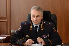 Der Leiter der Hauptabteilung des MIA von Russland in der Rostow-Region der allgemeine-d Major der Polizei Andrey Larionov Stockfoto