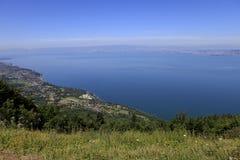 Der Leman See, Evian, Frankreich Stockfoto