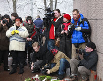 In der lettischen Erinnerungslegion Stockfoto