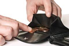 Der letzte Cent Lizenzfreies Stockbild