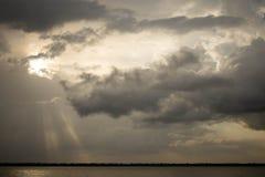 Der letzte Sonnenschein, Belem, Brasilien, 09/23/2018 stockfotos
