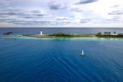 Der Leuchtturm - Bahamas stockbilder
