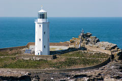 Godrevy Leuchtturm Cornwall Stockfotografie
