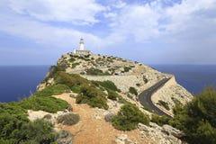 Der Leuchtturm Cap de Formentorm Lizenzfreie Stockfotografie