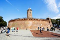 Der Leuchtturm in Kolobrzeg, Polen Lizenzfreie Stockbilder