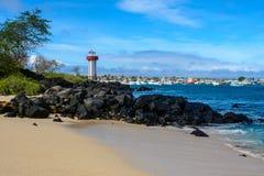 Der Leuchtturm, San Cristobal, Galapagos-Inseln, Ecuador stockbilder