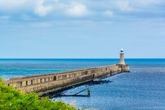Der Leuchtturm und das Meer Lizenzfreies Stockfoto