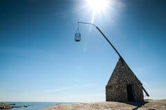 Der Leuchtturm an Verdens-Ende, Norwegen stockfotografie