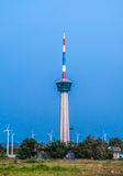 Der Leuchtturmturm bei Laemchabangport, Thailand lizenzfreie stockfotografie