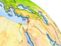 Der Libanon im roten Modell von Erde Lizenzfreie Stockfotos