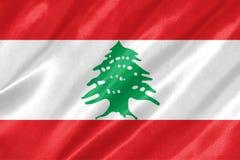 Der Libanon-Markierungsfahne lizenzfreie abbildung