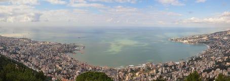 Der Libanon-Panorama vom Berg Stockfotografie