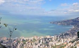 Der Libanon-Panorama vom Berg Lizenzfreies Stockbild