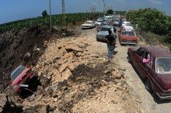 Der Libanon unter Bombardierung stockfotografie