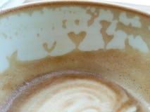 In der Liebe mit Kaffee Stockfotografie