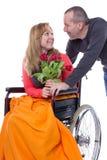 In der Liebe trotz des Handikaps lizenzfreies stockbild