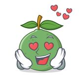 In der Liebesguavenmaskottchen-Karikaturart Lizenzfreies Stockbild