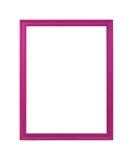 Der lila Rahmen lokalisiert auf einem weißen Hintergrund Lizenzfreies Stockbild