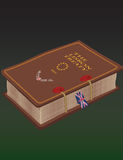 Der Lissabon-Vertrag berichtet über Sammlungsbuch Stockbild