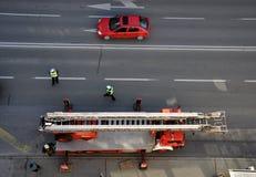 Der LKW des Feuerwehrmanns Stockfotografie