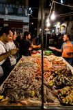 Der lokale Markt von Vucciria in Palermo, Sizilien lizenzfreie stockfotos