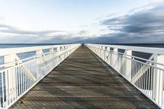 Der lokale Pier Stockfoto