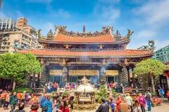 Der Longshan-Tempel Taiwan lizenzfreies stockfoto