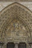Der Lord auf Fassade von Notre Dame von Paris, Frankreich lizenzfreie stockfotografie
