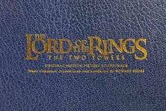 Der Lord der Ringfilmmusik Lizenzfreies Stockbild