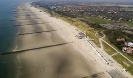 Der Luft d'aus de Nordseestrand photo stock