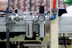 Der Luftfilter verwendet in der Druckluftanlage lizenzfreie stockfotografie